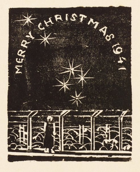 An image of Merry Christmas by Ludwig Hirschfeld-Mack