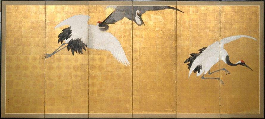 Alternate image of Cranes by Maruyama Ôkyo