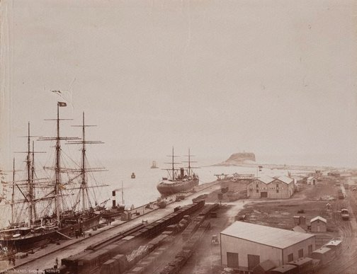 An image of Newcastle East, Showing Nobbys by Unknown, NSW Government Printer