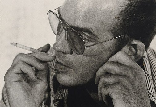 An image of Hunter S Thompson, writer, Sydney by Lewis Morley