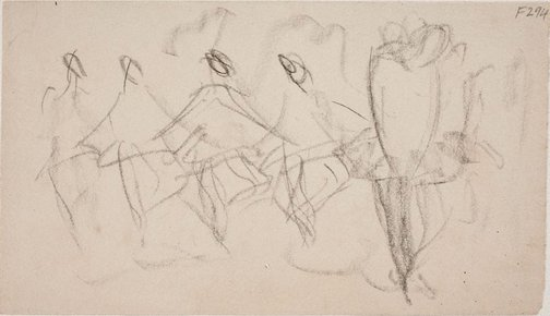 An image of (Figures dancing) (Late Sydney Period) by William Dobell