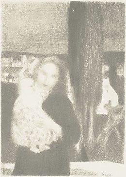 An image of Maternité au Cyprés by Maurice Denis
