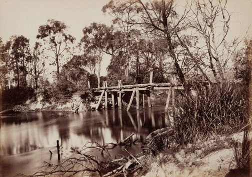 An image of Junction of the Rivers Yarra and Watt, near Healesville by Nicholas Caire
