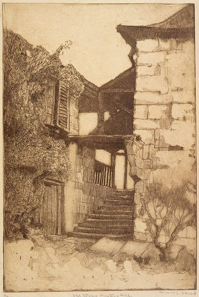 An image of Old steps, Hunters Hill by Donald Friend