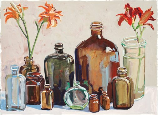 An image of Day lillies by Lucy Culliton
