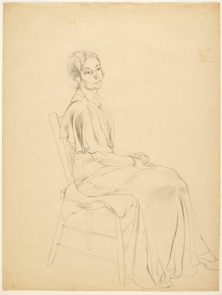 An image of Untitled (Portrait of a seated woman) by Adelaide Perry