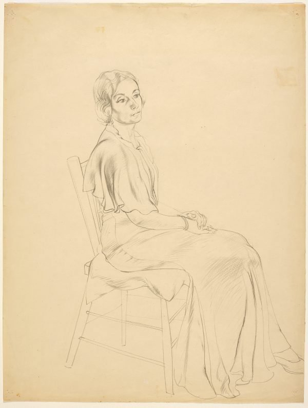 An image of Untitled (Portrait of a seated woman)
