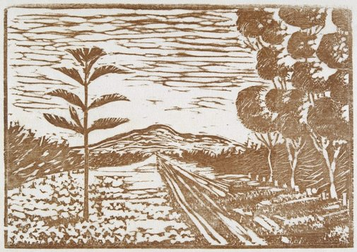An image of Corio (Road to the You-Yangs) by Ludwig Hirschfeld-Mack