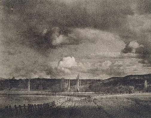 An image of Evening clouds - Avondale by W.H. Moffitt