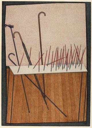 AGNSW collection John Brack Pens 1977