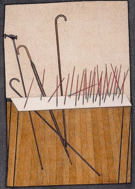 An image of Pens by John Brack