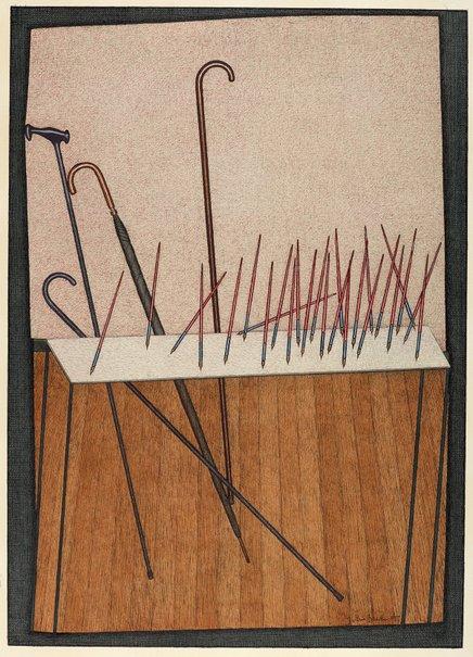 An image of Pens by John Brack