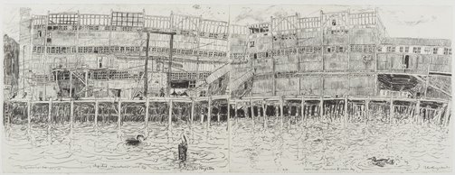 An image of Shag shed resumption, Walsh Bay by Peter Kingston