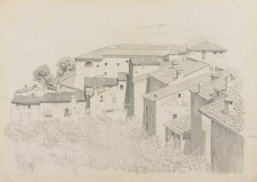 An image of Sketch for 'Chianti country' by Douglas Dundas
