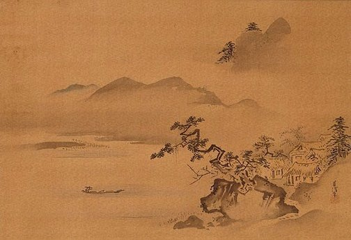 An image of Landscape by Kanô Chikanobu