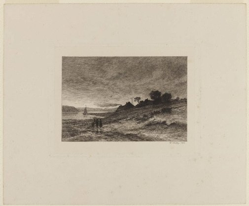 An image of Landscape by Wilhelm Bröker