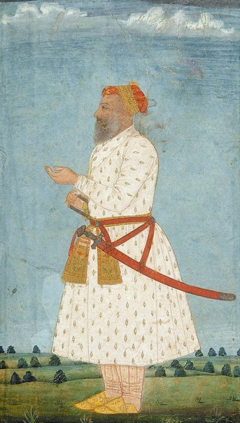 An image of Portrait of a Mughal Courtier by