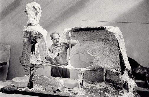 An image of Henry Moore, Sculptor, Much Hadham, UK by David Moore