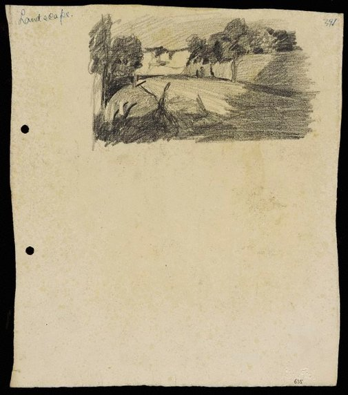 An image of recto: Landscape with road verso: Landscape with water [sideways] by Lloyd Rees