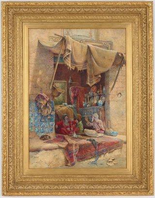 AGNSW collection Charles Robertson Bazaar gossip (circa 1886) 1111