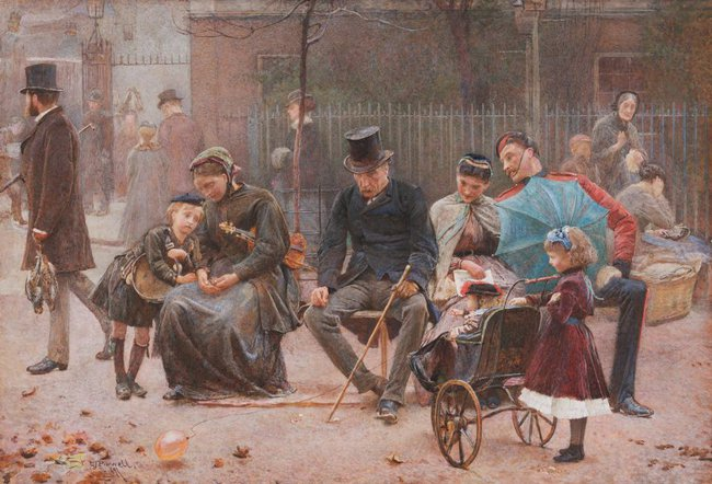 AGNSW collection George John Pinwell A seat in St James's Park (1869) 1115
