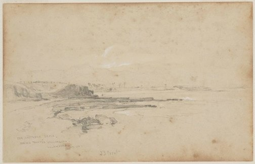 An image of The Southern Beach, looking towards Wollongong, Illawarra by John Skinner Prout