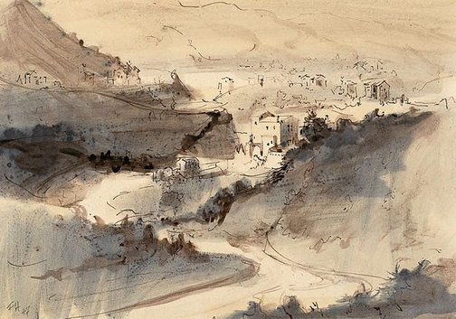 An image of (Landscape) by Frank Hodgkinson