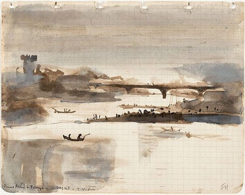 An image of Fiume Arno, Firenze by Frank Hodgkinson