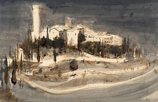 An image of (Tuscan Town) by Frank Hodgkinson