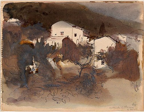 An image of Outskirts of Florence by Frank Hodgkinson