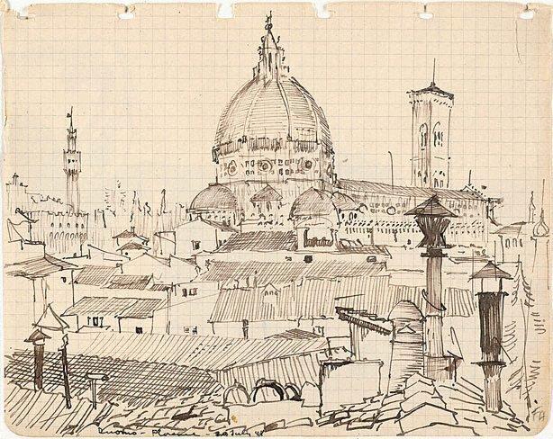 AGNSW collection Frank Hodgkinson Duomo, Florence 1948