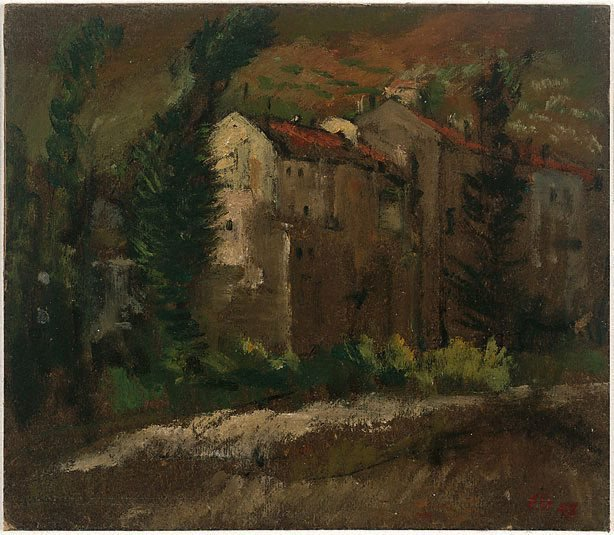 An image of (Tuscan buildings)