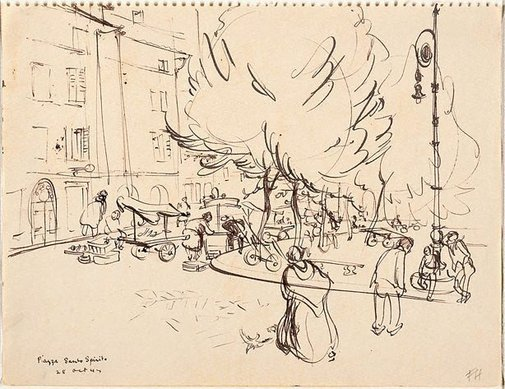 An image of Piazza Santo Spirito by Frank Hodgkinson