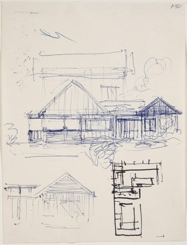 An image of (House facade and house plans) (Late Sydney Period)