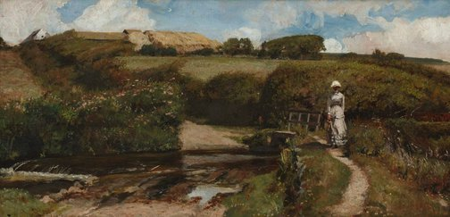 An image of Halcyon days by murmuring streams by John Buxton Knight