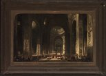 Alternate image of Interior of the Basilica of St Peters at Rome by David Roberts