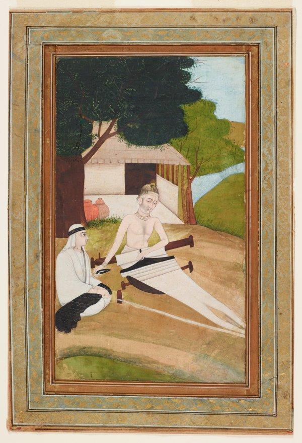 An image of Kabir tending his loom