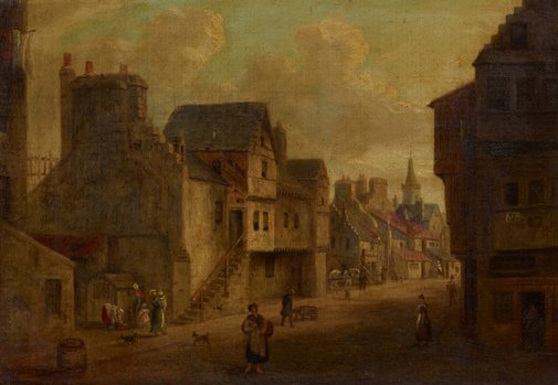 An image of Old Edinburgh by William Smeall