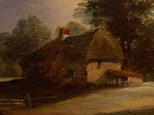 Alternate image of Cottage with trees behind, clearing by Unknown, attrib. Norwich School