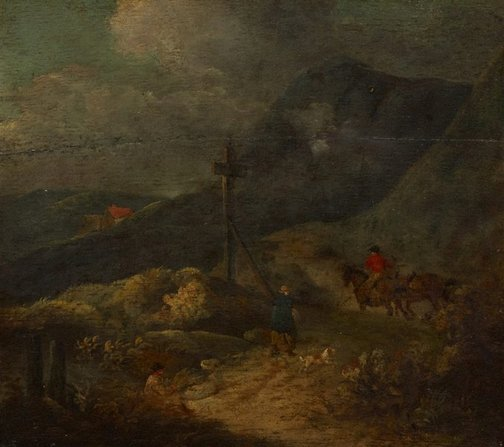 An image of Landscape by George Morland