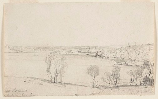 An image of Goat Island by John Skinner Prout