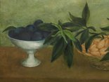 Alternate image of Still life with almonds and plums by David Strachan