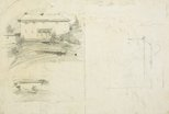 Alternate image of recto: Old Government House, Parramatta and architectural details verso: Three studies for Old Government House, Parramatta by Lloyd Rees