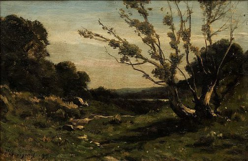 An image of Morning in the Nievre by Henri Harpignies