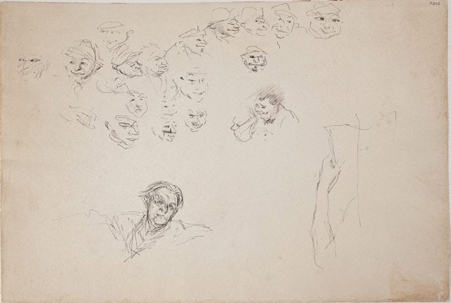 An image of (Face studies and self portrait) (Late Sydney Period)