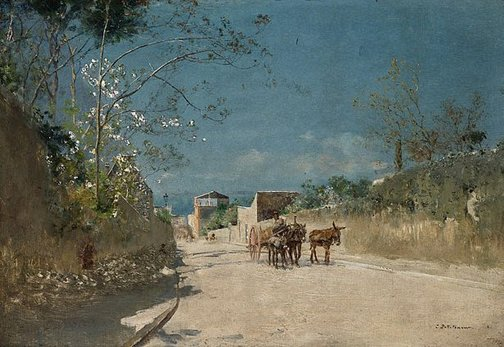 An image of Route to Torre del Greco by Ivan Pokhitonov