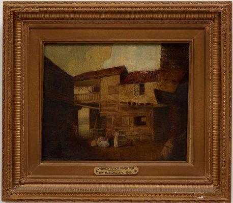Alternate image of A courtyard by attrib. Norwich School