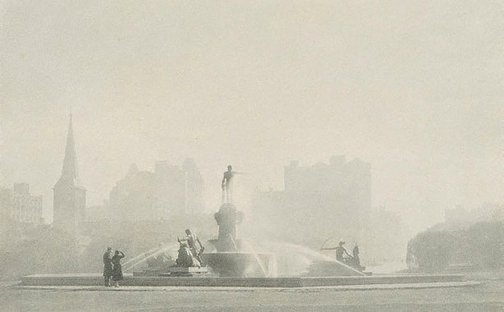 An image of Archibald Fountain, winter morning by Richard V Simpson