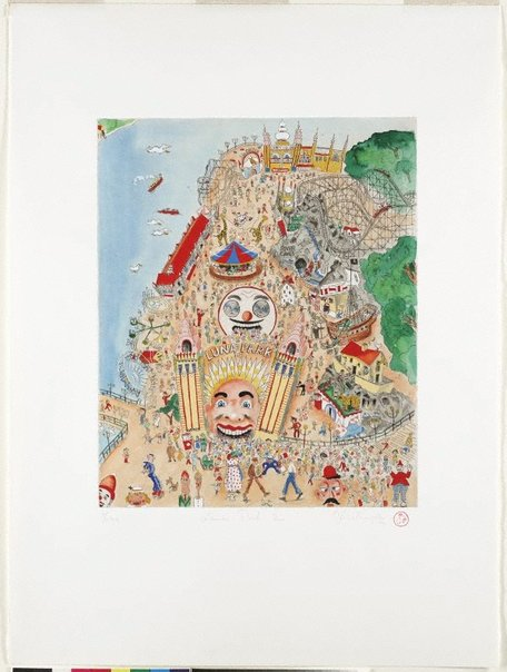 An image of Luna Park 2000 by Peter Kingston