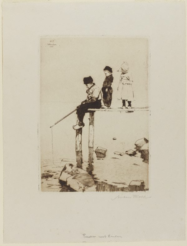 An image of Fisherman with children